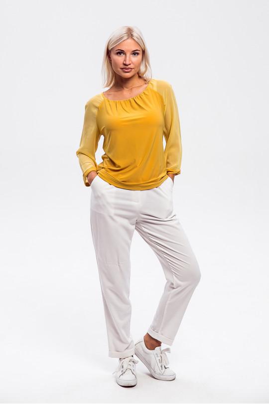 1523-4 - Стильная блузка покроя реглан с рукавами длин