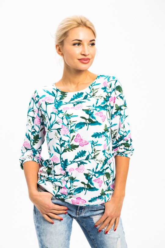 1772-2 - Чудесная блузка на лето из вискозного полотна