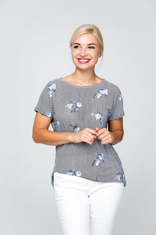 1851-2 - Милая летняя блузка из шелковистого полотна с