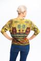 1872 - Блузка с эффектным рисунком не оставит никого р