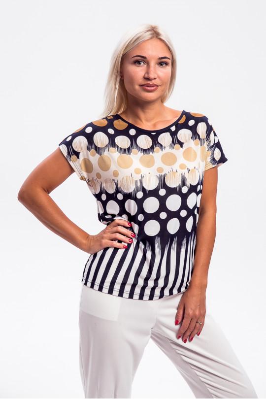 1955-1 - Эффектная блузка покроя японка, выполненная из шелковистого легкого полотна, придаст ощущение радости в любую погоду.