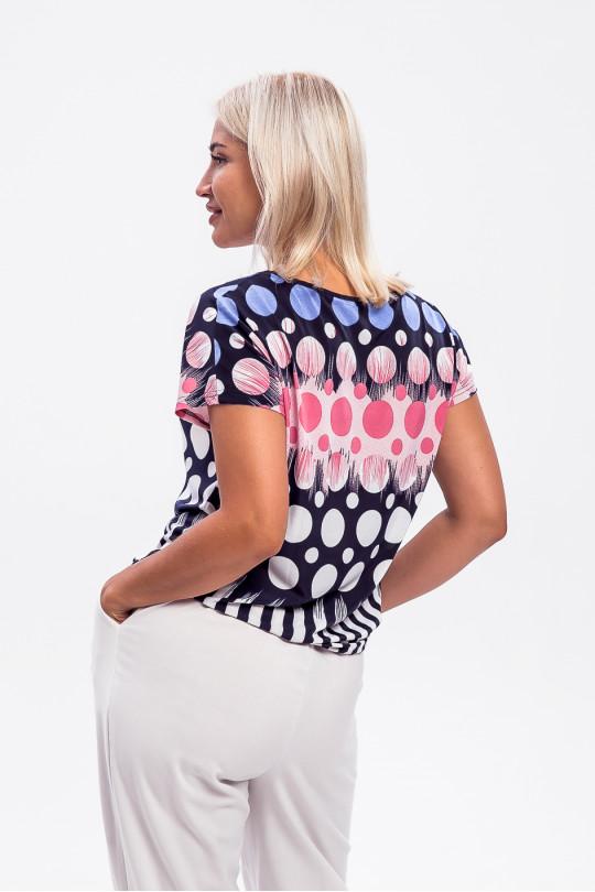 1955-2 - Эффектная блузка покроя японка, выполненная из шелковистого легкого полотна, придаст ощущение радости в любую погоду.