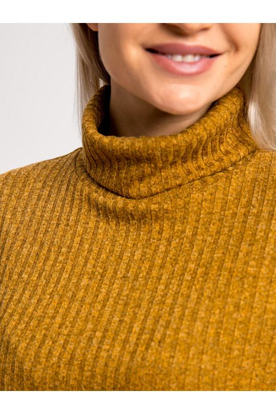 """20111-4 - Платье из полотна типа """"резинка"""" средней плотности подойдет женщине или девушке с любой фигурой. Объемный верх длиной до середины бедра стянут на резинку, которую можно расположить где удобно."""