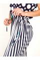 2071 - Легкое платье длиной макси с эффектной набивкой  для отдыха. Плечо спущено, по боковым швам разрезы. Талию можно регулировать завязками, продернутыми в кулиску.