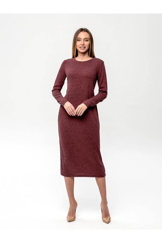 """2091-3 - Платье из полотна типа """"лапша"""" прямого силуэта с длинным рукавом, длиной до середины икры, необыкновенно комфортно и пригодится для любого случая. Горловина обработана притачной бейкой."""