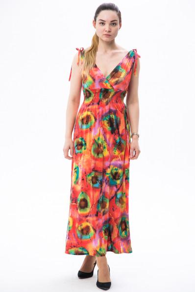 2442-2 - Платье-сарафан из легкого струящегося полотна