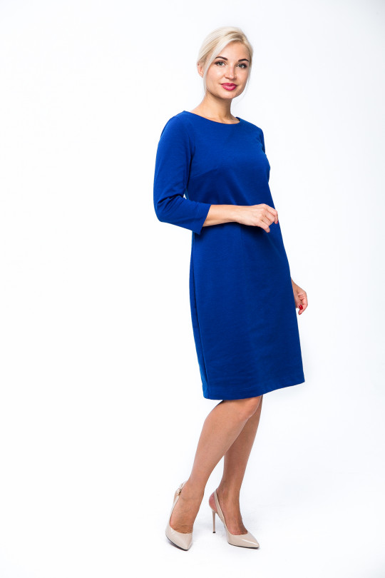 26111 - Платье-футляр приталенного силуэта с рукавом
