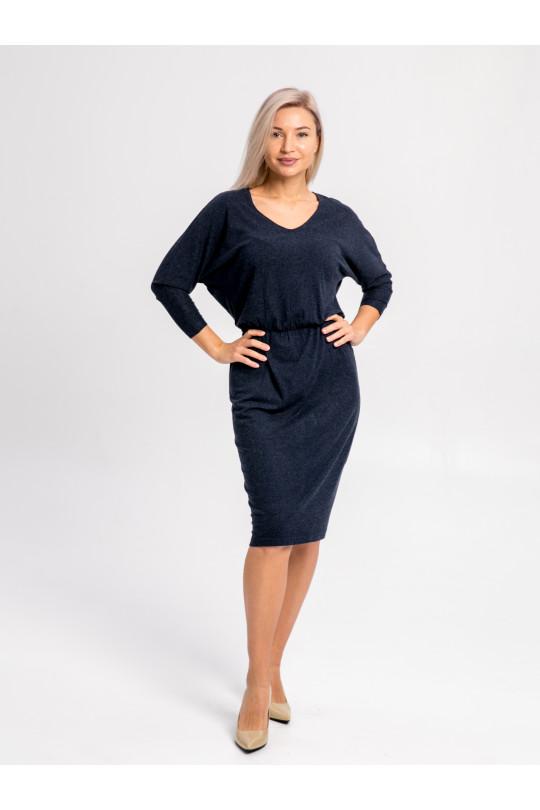 26112 - Элегантное платье из мягкого  полотна