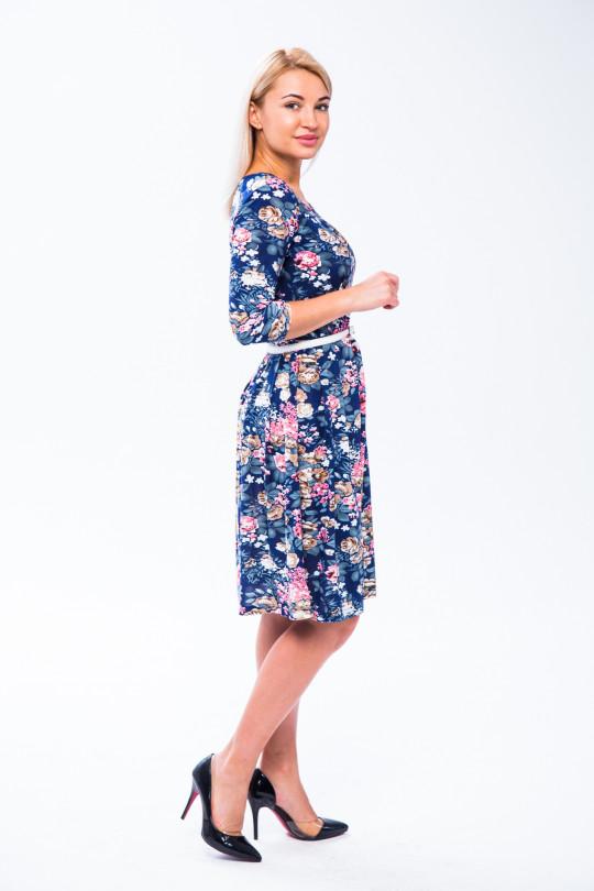 2632 - Платье приталенного силуэта, отрезное по талии