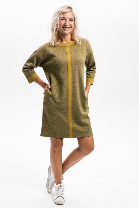 2931-1 - Платье свободного силуэта выполнено из плотного