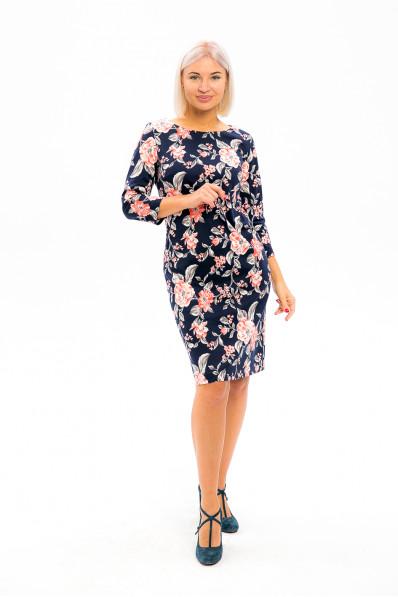 2991-1 - В таком платье из плотного  полотна с красивой набивкой вы всегда будете выглядеть достойно и привлекательно.