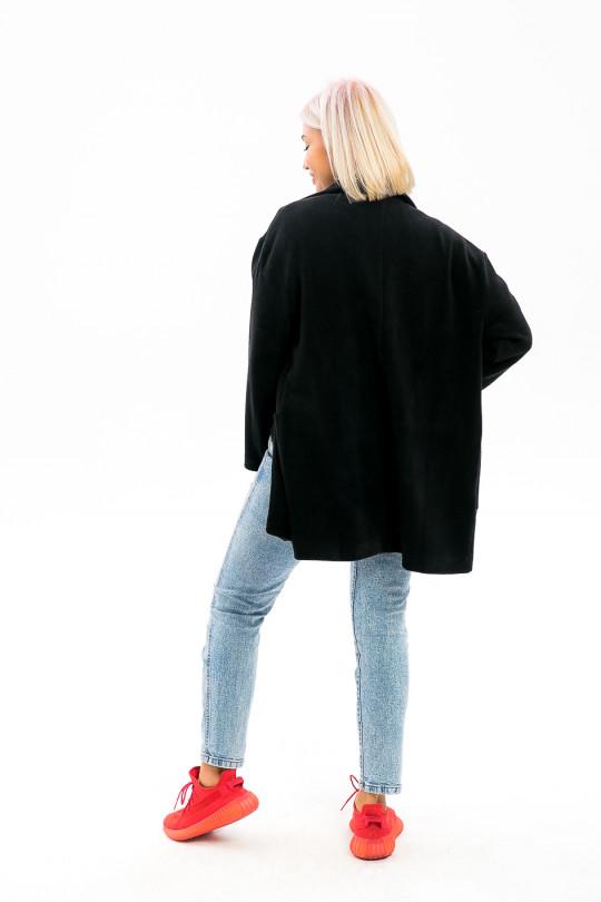 """3991 - Мягкий, уютный, бесподкладочный жакет """"оверсайз"""" с накладными карманами - в него так легко спрятаться от холода."""