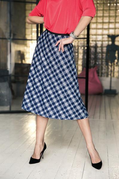 59115-2 - Расклешенная юбка длиной до середины икры выполнена из полотна средней плотности. По талии резиновая тесьма.