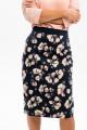5941 - Стильная юбка длиной за колено на притачном