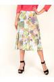 5951-3 - Расклешенная юбка летящего силуэта, По поясу резиновая тесьма.