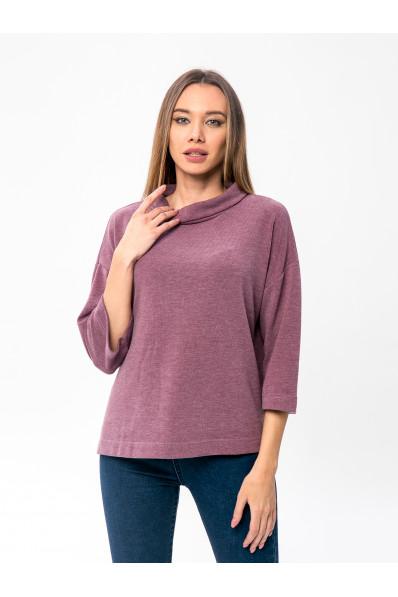 6091-2 - Этот джемпер свободного покроя очень порадует Вас в холодное время. Он теплый , т.к. в составе шерсть, комфортный - т.к. полотно облегченное и универсальный - его можно носить с джинсами, брюками, юбкой.