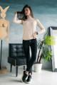 """69111-1 - Джемпер из полотна типа """"лапша"""", выполненный из облегченного нежного полотна, можно носить самостоятельно или под жакет. Воротник стойка."""